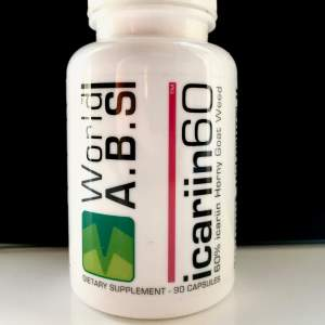 Review of 60% icariin Horny Goat Weed Extract by World A.B.S